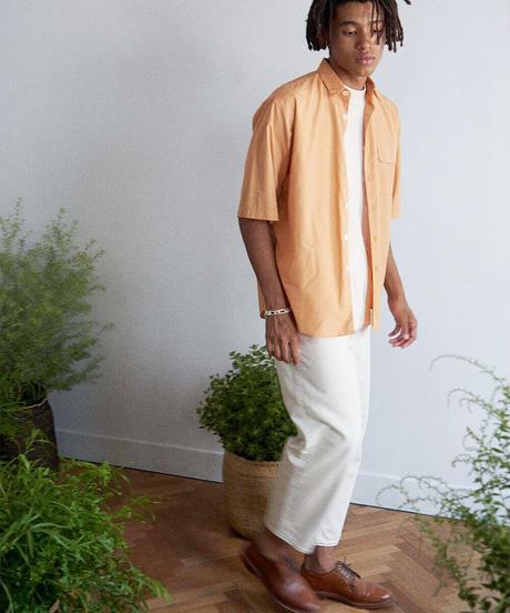 unfil アンフィル / washed cotton-poplin short sleeve shirt / WOSP-UM213
