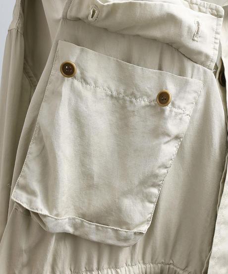 unfil アンフィル / cotton & silk-twill military jacket / WOSP-UW125