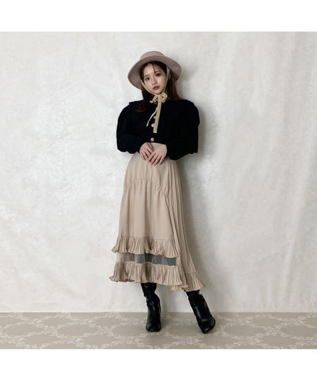 【Autumn 20】big collar pearl blouse (cg00057)