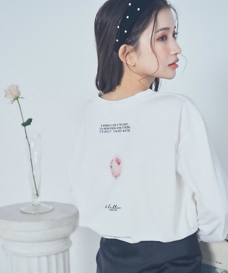 "【lottie】""rose cake things"" tee"