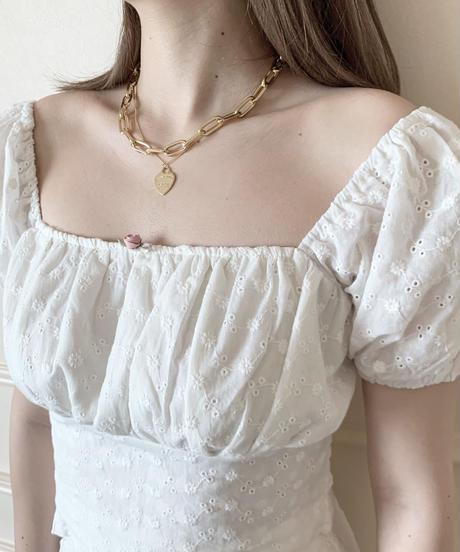puff minimum blouse (white)