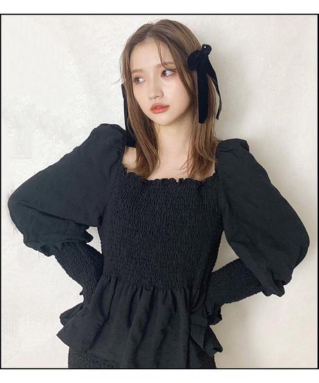 【Autumn 1】shirring flare blouse