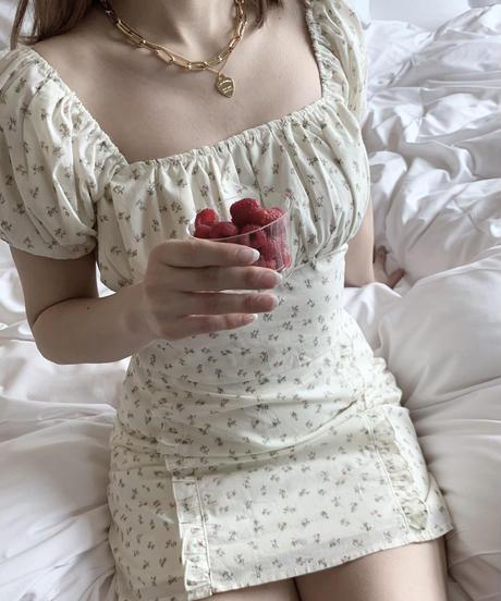 frill mini skirt (pink flower)