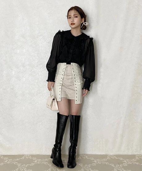 【Autumn 37】lace up mini skirt (A20-03066K)