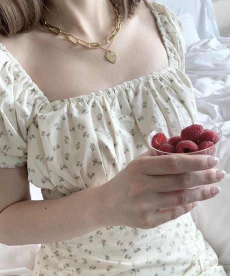 puff minimum blouse (pink flower)