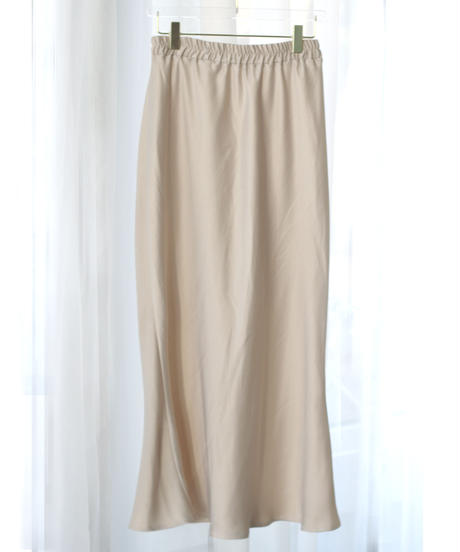 satin long skirt (S20-03050K)