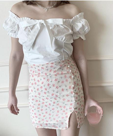 front ribbon blouse (2colors)