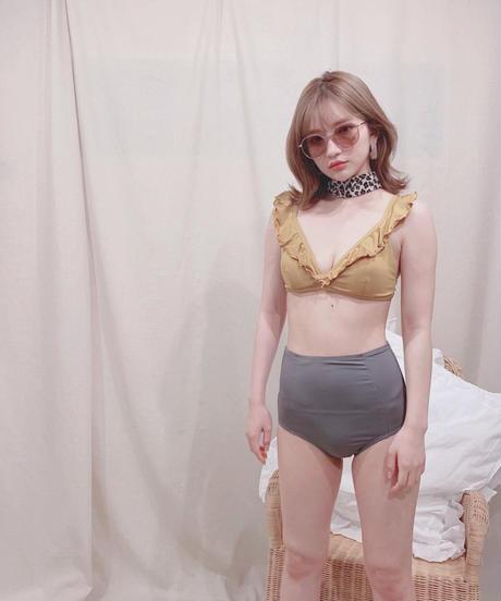 bicolor high waist bikini