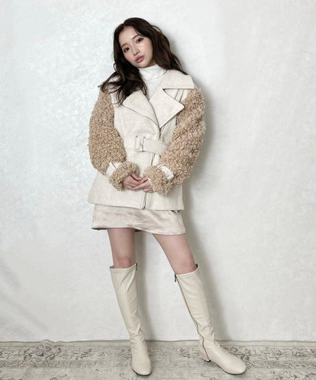 【Re stock】fit long boots (2colors)