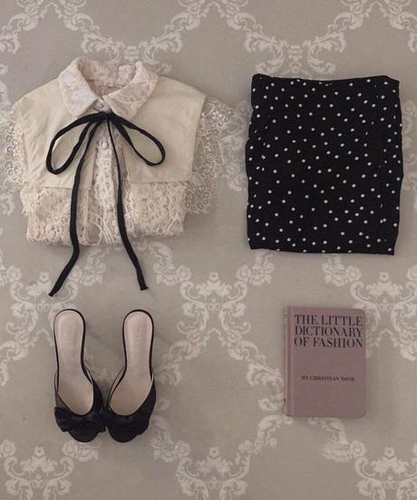 ribbon lace blouse