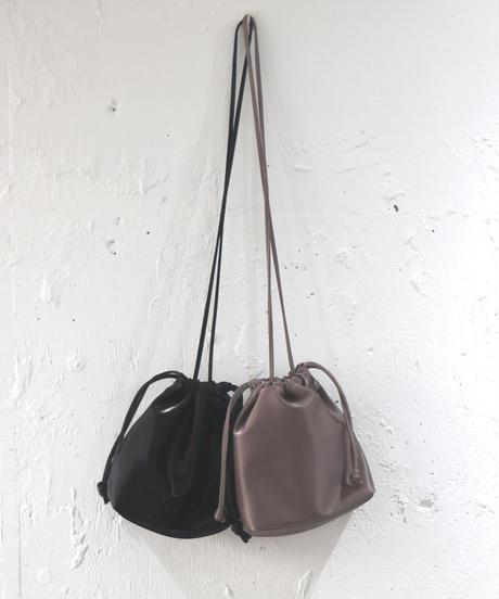 shiny drawstring bag