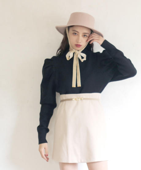 wool flap pocket jacket & skirt(A19-05036K)