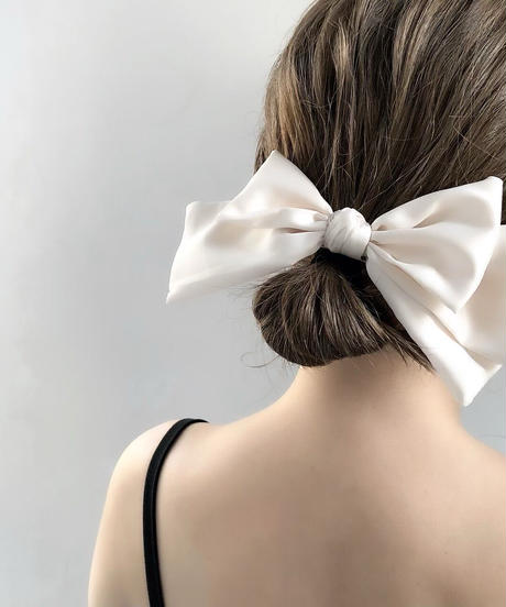 satin ribbon barrette  (3colors)