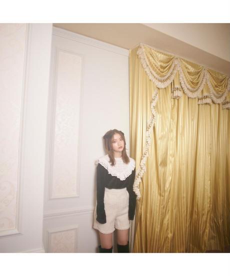 【Autumn 13】frill collar velour blouse (cg00056)