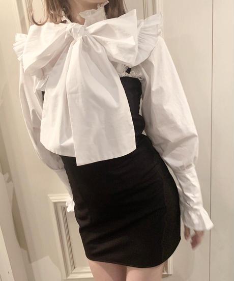 big ribbon blouse (white)
