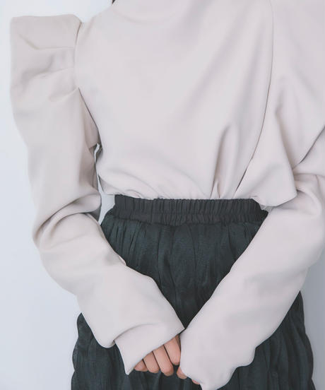 puff shoulder frill blouse (S20-01188K)