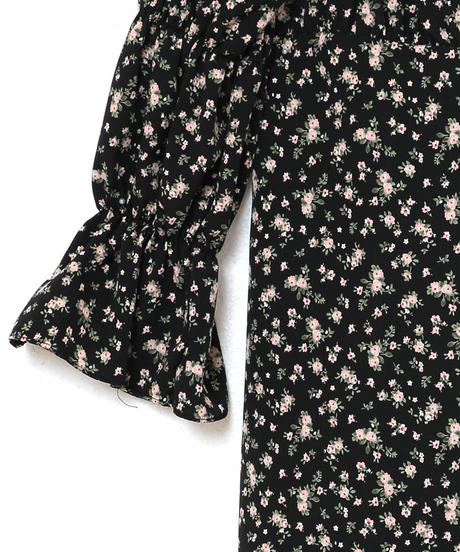candy sleeve flower one-piece (A19-04059K)-IVO.FLW/F