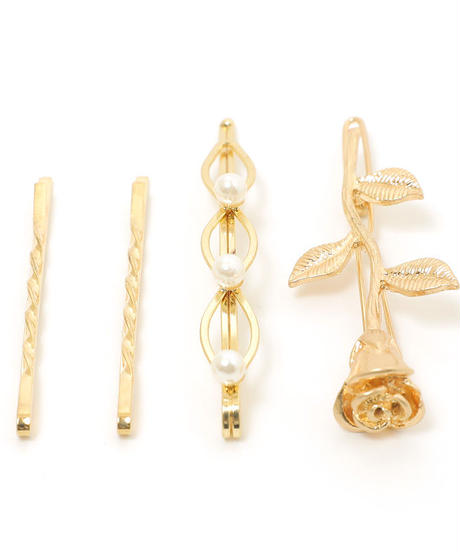 rose set hair pin (A19-10117K)