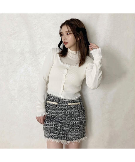 【Autumn 4】 frill lace cardigan