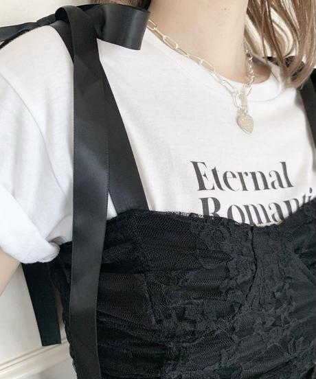 heart chain mantel necklace (2colors)