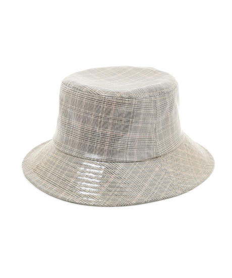 pvc check bucket hat (A19-10132K)