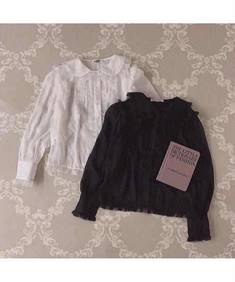 【Autumn 36】 sheer frill blouse (A20-01216K)