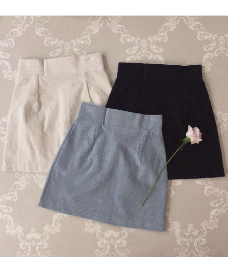 corduroy mini skirt (3colors)