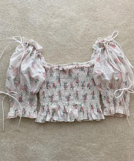 cotton lace rose blouse