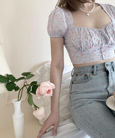 rose puff blouse