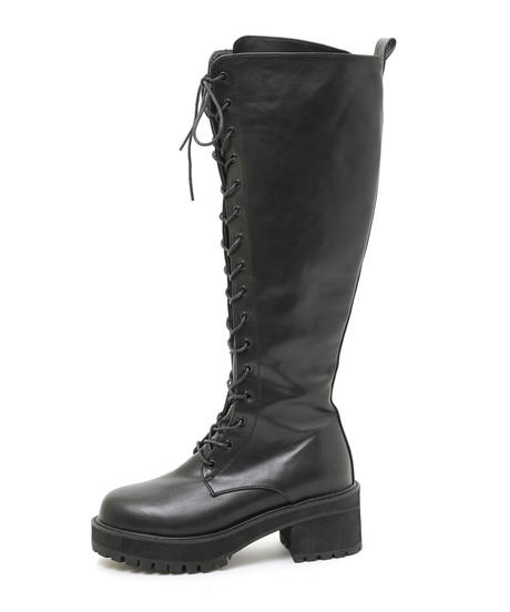 lace up long boots (A19-07017K)