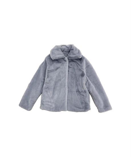 fake fur coat -blue-