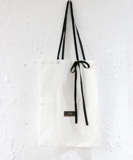 【lottie made】velour ribbon label tote bag (S20-08030O)