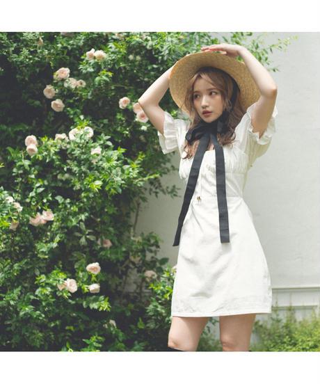 【Summer 5】gather  ribbon mini one-piece(cg00012)