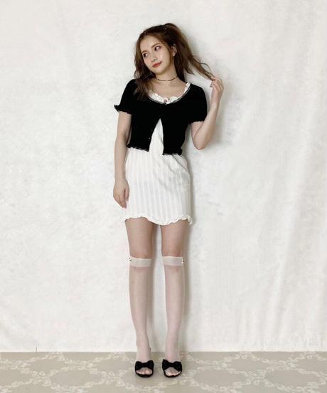 lace frill mini cardigan