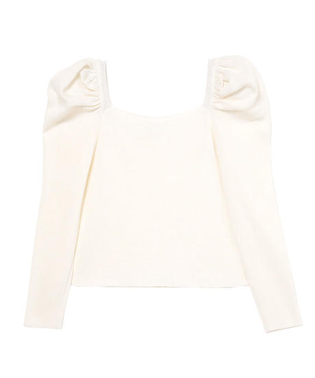 【CHISATO YOSHIKI × &lottie】puff sleeve square neck tops(S20-01179P)