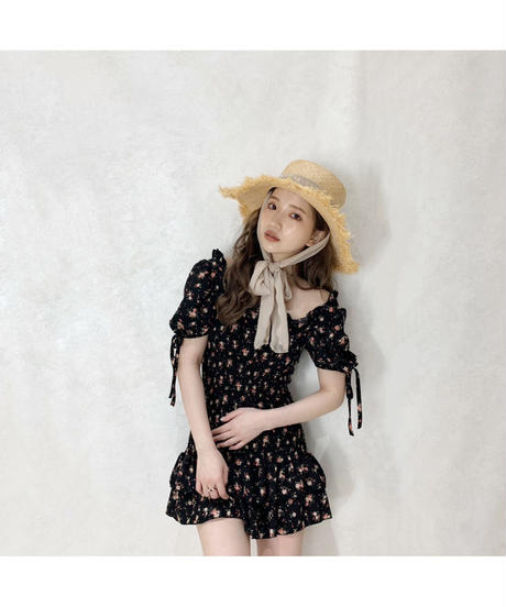 【Summer 38】flower shirring one-piece (S20-04082K)