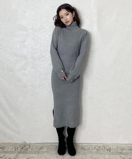 lib knit long one-piece (3 colors)