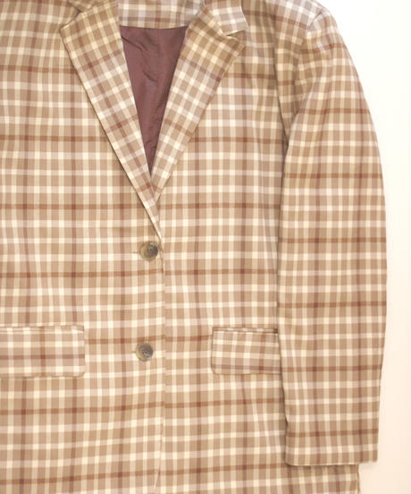 tone on tone check  jacket(A19-06037K)