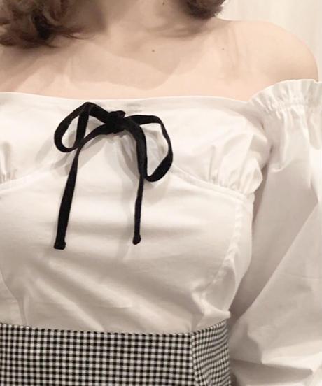 bustier like blouse (ribbon)