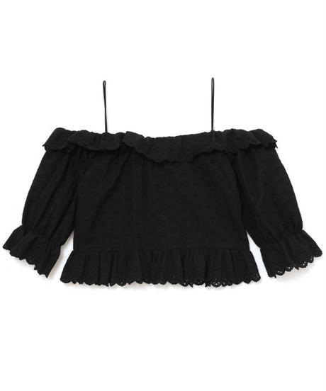 【Summer 4】lace shoulder cut blouse (S19-01114K)