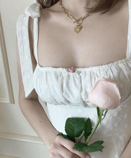 flare mini cami one-piece (white)