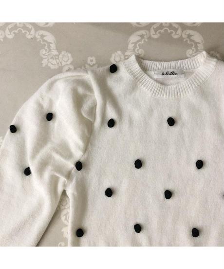 ponpon knit  (A20-01215K)