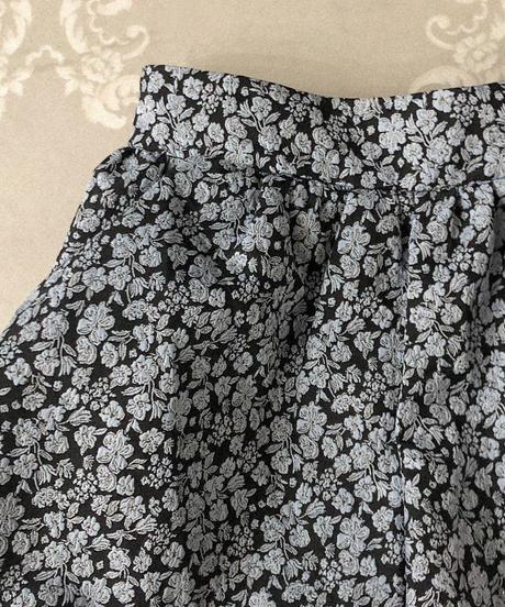 flower balloon short pants -black×blue-