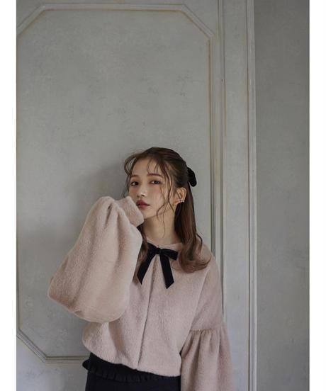 【&lottie original】bell sleeve shaggy coat (A20-06039O)