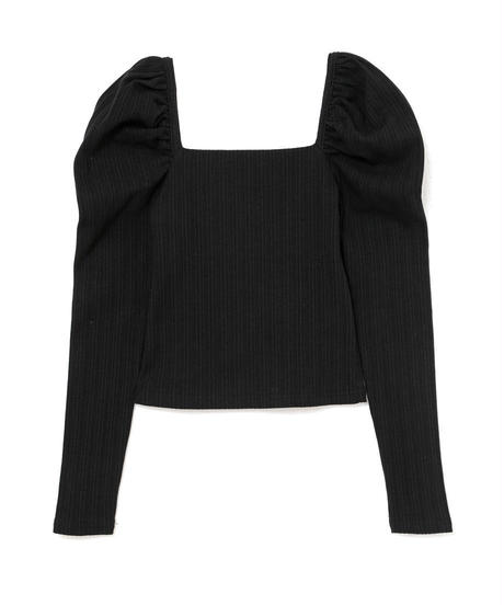 puff sleeve square neck cut sew(A19-01144K)