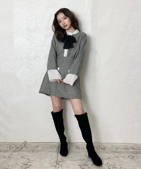 【last 1】fit long boots (2colors)
