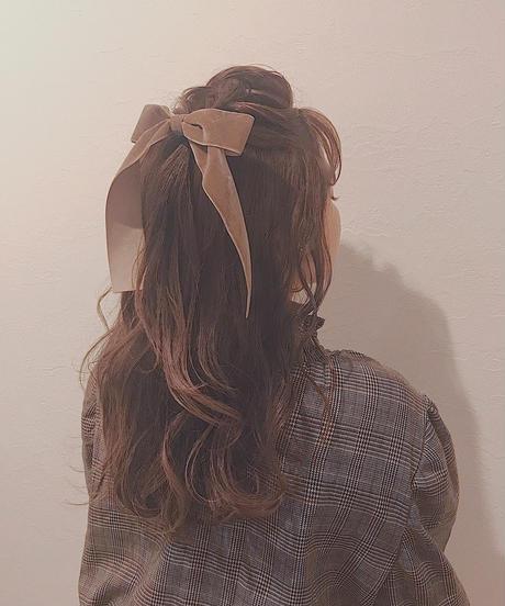 velours ribbon hair accessory