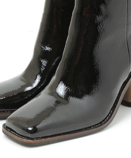 semi circle heel short boots