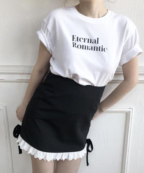 frill ribbon mini skirt (2colors)