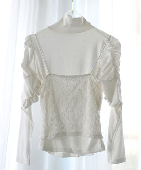 lace bustier turtleneck tops (S20-01182K)